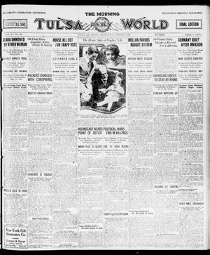 Primary view of object titled 'The Morning Tulsa Daily World (Tulsa, Okla.), Vol. 15, No. 160, Ed. 1, Wednesday, March 9, 1921'.