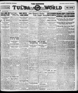 Primary view of The Morning Tulsa Daily World (Tulsa, Okla.), Vol. 15, No. 163, Ed. 1, Saturday, March 12, 1921