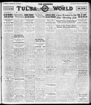 Primary view of object titled 'The Morning Tulsa Daily World (Tulsa, Okla.), Vol. 15, No. 167, Ed. 1, Wednesday, March 16, 1921'.