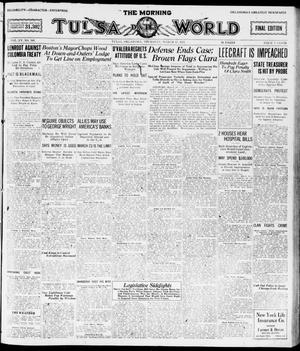 Primary view of object titled 'The Morning Tulsa Daily World (Tulsa, Okla.), Vol. 15, No. 168, Ed. 1, Thursday, March 17, 1921'.