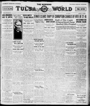 Primary view of The Morning Tulsa Daily World (Tulsa, Okla.), Vol. 15, No. 176, Ed. 1, Friday, March 25, 1921