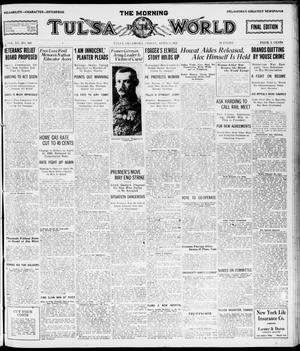 Primary view of object titled 'The Morning Tulsa Daily World (Tulsa, Okla.), Vol. 15, No. 190, Ed. 1, Friday, April 8, 1921'.