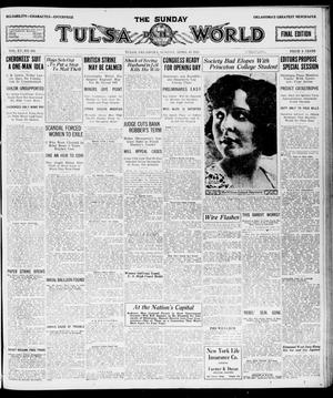 Primary view of object titled 'The Sunday Tulsa Daily World (Tulsa, Okla.), Vol. 15, No. 192, Ed. 1, Sunday, April 10, 1921'.