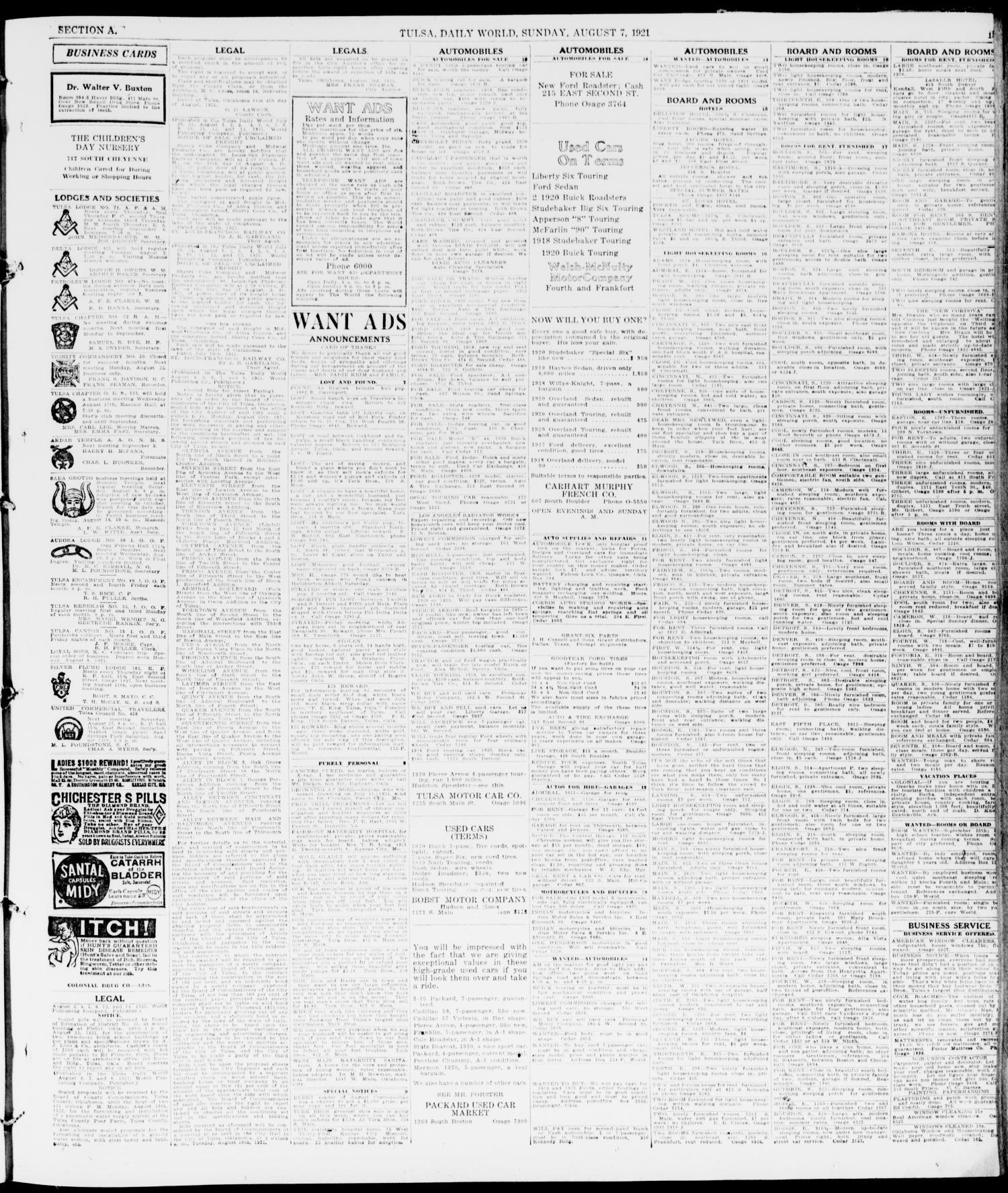 The Sunday Tulsa Daily World Tulsa Okla Vol 15 No 310 Ed