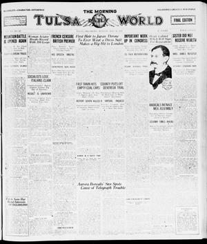 Primary view of object titled 'The Morning Tulsa Daily World (Tulsa, Okla.), Vol. 15, No. 227, Ed. 1, Monday, May 16, 1921'.