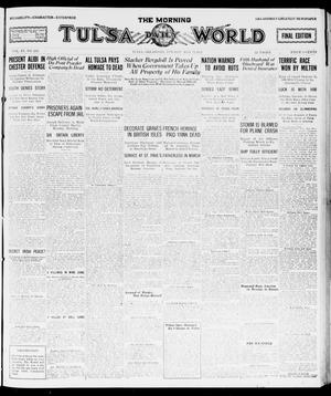 Primary view of object titled 'The Morning Tulsa Daily World (Tulsa, Okla.), Vol. 15, No. 242, Ed. 1, Tuesday, May 31, 1921'.