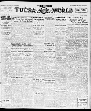 Primary view of object titled 'The Morning Tulsa Daily World (Tulsa, Okla.), Vol. 15, No. 286, Ed. 1, Thursday, July 14, 1921'.