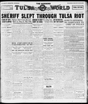 Primary view of object titled 'The Morning Tulsa Daily World (Tulsa, Okla.), Vol. 15, No. 287, Ed. 1, Friday, July 15, 1921'.
