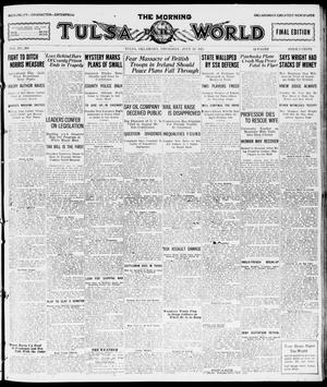 Primary view of object titled 'The Morning Tulsa Daily World (Tulsa, Okla.), Vol. 15, No. 300, Ed. 1, Thursday, July 28, 1921'.
