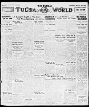 Primary view of object titled 'The Sunday Tulsa Daily World (Tulsa, Okla.), Vol. 15, No. 303, Ed. 1, Sunday, July 31, 1921'.