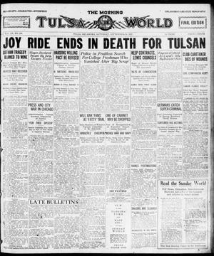 Primary view of object titled 'The Morning Tulsa Daily World (Tulsa, Okla.), Vol. 15, No. 259, Ed. 1, Saturday, September 24, 1921'.