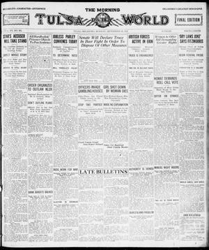 Primary view of object titled 'The Morning Tulsa Daily World (Tulsa, Okla.), Vol. 15, No. 261, Ed. 1, Monday, September 26, 1921'.