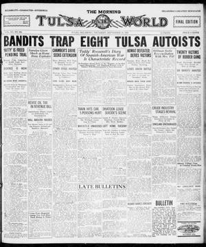 Primary view of object titled 'The Morning Tulsa Daily World (Tulsa, Okla.), Vol. 15, No. 364, Ed. 1, Thursday, September 29, 1921'.