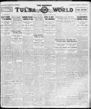 Primary view of object titled 'The Morning Tulsa Daily World (Tulsa, Okla.), Vol. 16, No. 18, Ed. 1, Tuesday, October 18, 1921'.