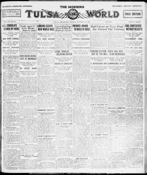 Primary view of object titled 'The Morning Tulsa Daily World (Tulsa, Okla.), Vol. 16, No. 21, Ed. 1, Friday, October 21, 1921'.