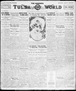 Primary view of object titled 'The Morning Tulsa Daily World (Tulsa, Okla.), Vol. 16, No. 22, Ed. 1, Saturday, October 22, 1921'.