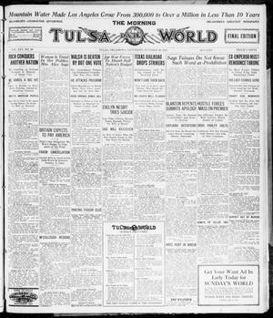 Primary view of object titled 'The Morning Tulsa Daily World (Tulsa, Okla.), Vol. 16, No. 29, Ed. 1, Saturday, October 29, 1921'.