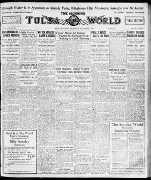 Primary view of object titled 'The Morning Tulsa Daily World (Tulsa, Okla.), Vol. 16, No. 36, Ed. 1, Saturday, November 5, 1921'.
