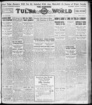Primary view of object titled 'The Morning Tulsa Daily World (Tulsa, Okla.), Vol. 16, No. 38, Ed. 1, Monday, November 7, 1921'.
