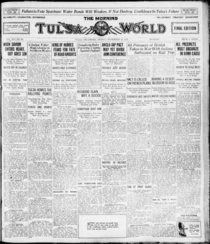Primary view of object titled 'The Morning Tulsa Daily World (Tulsa, Okla.), Vol. 16, No. 56, Ed. 1, Friday, November 25, 1921'.