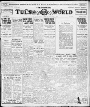 Primary view of object titled 'The Morning Tulsa Daily World (Tulsa, Okla.), Vol. 16, No. 57, Ed. 1, Saturday, November 26, 1921'.