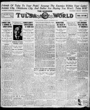 Primary view of object titled 'The Morning Tulsa Daily World (Tulsa, Okla.), Vol. 16, No. 59, Ed. 1, Monday, November 28, 1921'.