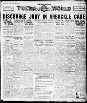 Primary view of The Morning Tulsa Daily World (Tulsa, Okla.), Vol. 16, No. 66, Ed. 1, Monday, December 5, 1921