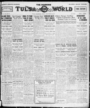 Primary view of object titled 'The Morning Tulsa Daily World (Tulsa, Okla.), Vol. 16, No. 91, Ed. 1, Friday, December 30, 1921'.