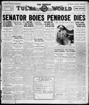 Primary view of The Sunday Tulsa Daily World (Tulsa, Okla.), Vol. 16, No. 93, Ed. 1, Sunday, January 1, 1922
