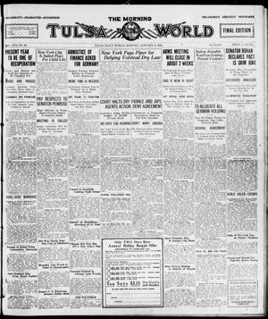 Primary view of object titled 'The Morning Tulsa Daily World (Tulsa, Okla.), Vol. 16, No. 94, Ed. 1, Monday, January 2, 1922'.