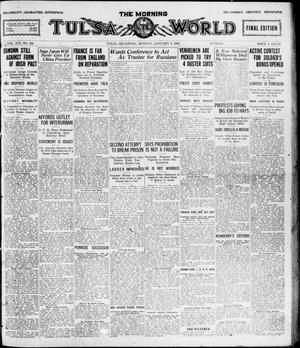 Primary view of object titled 'The Morning Tulsa Daily World (Tulsa, Okla.), Vol. 16, No. 101, Ed. 1, Monday, January 9, 1922'.