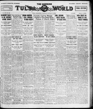 Primary view of object titled 'The Morning Tulsa Daily World (Tulsa, Okla.), Vol. 16, No. 102, Ed. 1, Tuesday, January 10, 1922'.