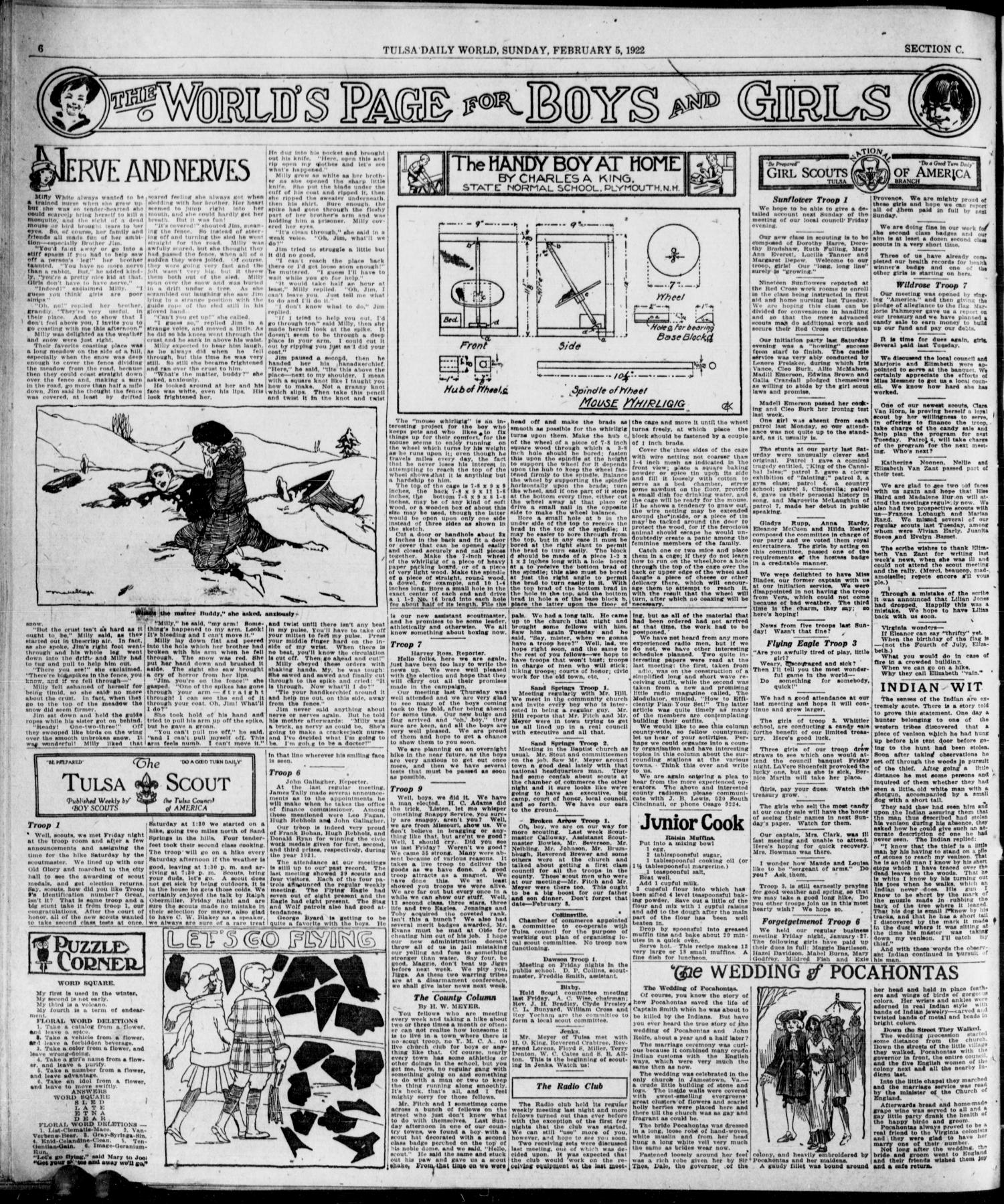 The Sunday Tulsa Daily World (Tulsa, Okla.), Vol. 16, No. 128, Ed. 1, Sunday, February 5, 1922                                                                                                      [Sequence #]: 46 of 50