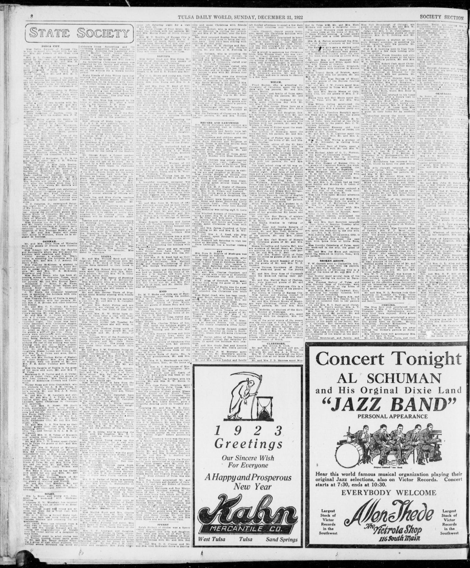 The Sunday Tulsa Daily World Tulsa Okla Vol 17 No 91 Ed 1