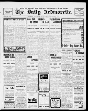 Primary view of object titled 'The Daily Ardmoreite. (Ardmore, Okla.), Vol. 14, No. 308, Ed. 1, Sunday, May 24, 1908'.