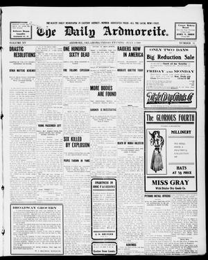 Primary view of object titled 'The Daily Ardmoreite. (Ardmore, Okla.), Vol. 15, No. 31, Ed. 1, Friday, July 3, 1908'.