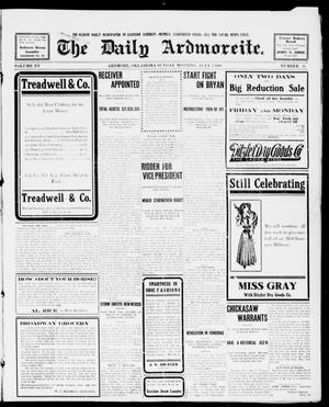 Primary view of object titled 'The Daily Ardmoreite. (Ardmore, Okla.), Vol. 15, No. 32, Ed. 1, Sunday, July 5, 1908'.