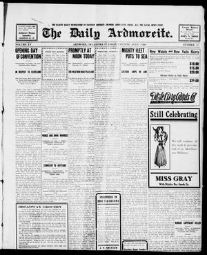 Primary view of object titled 'The Daily Ardmoreite. (Ardmore, Okla.), Vol. 15, No. 34, Ed. 1, Tuesday, July 7, 1908'.