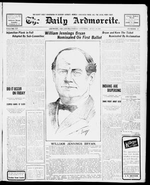 Primary view of object titled 'The Daily Ardmoreite. (Ardmore, Okla.), Vol. 15, No. 37, Ed. 1, Friday, July 10, 1908'.