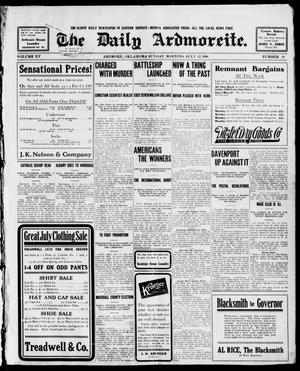 Primary view of object titled 'The Daily Ardmoreite. (Ardmore, Okla.), Vol. 15, No. 38, Ed. 1, Sunday, July 12, 1908'.