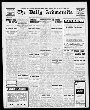 Primary view of object titled 'The Daily Ardmoreite. (Ardmore, Okla.), Vol. 15, No. 44, Ed. 1, Sunday, July 19, 1908'.