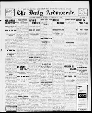 Primary view of object titled 'The Daily Ardmoreite. (Ardmore, Okla.), Vol. 15, No. 46, Ed. 1, Tuesday, July 21, 1908'.