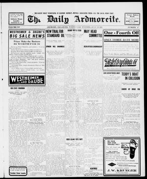 Primary view of object titled 'The Daily Ardmoreite. (Ardmore, Okla.), Vol. 15, No. 47, Ed. 1, Wednesday, July 22, 1908'.