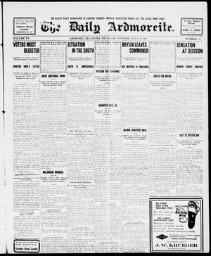 Primary view of object titled 'The Daily Ardmoreite. (Ardmore, Okla.), Vol. 15, No. 48, Ed. 1, Thursday, July 23, 1908'.