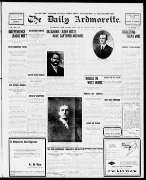 Primary view of object titled 'The Daily Ardmoreite. (Ardmore, Okla.), Vol. 15, No. 51, Ed. 1, Monday, July 27, 1908'.