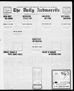 Primary view of object titled 'The Daily Ardmoreite. (Ardmore, Okla.), Vol. 15, No. 52, Ed. 1, Tuesday, July 28, 1908'.