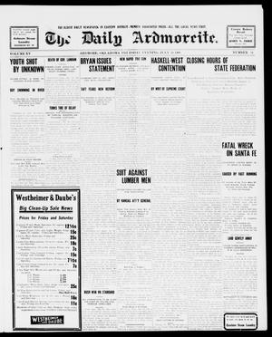 Primary view of object titled 'The Daily Ardmoreite. (Ardmore, Okla.), Vol. 15, No. 54, Ed. 1, Thursday, July 30, 1908'.