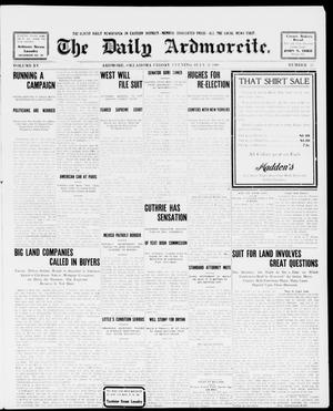 Primary view of object titled 'The Daily Ardmoreite. (Ardmore, Okla.), Vol. 15, No. 55, Ed. 1, Friday, July 31, 1908'.