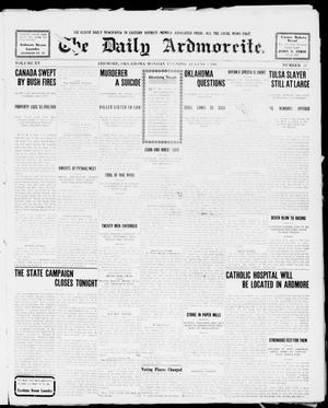 Primary view of object titled 'The Daily Ardmoreite. (Ardmore, Okla.), Vol. 15, No. 57, Ed. 1, Monday, August 3, 1908'.