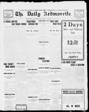 Primary view of object titled 'The Daily Ardmoreite. (Ardmore, Okla.), Vol. 15, No. 58, Ed. 1, Tuesday, August 4, 1908'.
